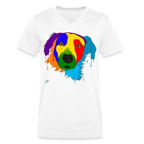 Cane Meticcio - T-shirt ecologica da uomo con scollo a V di Stanley & Stella