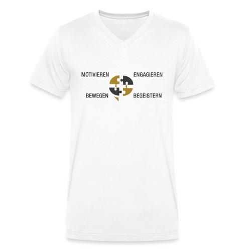 Ein Puzzel setzt sich zusammen - Männer Bio-T-Shirt mit V-Ausschnitt von Stanley & Stella