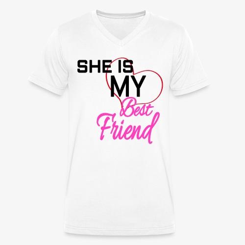 BestFriend - Camiseta ecológica hombre con cuello de pico de Stanley & Stella
