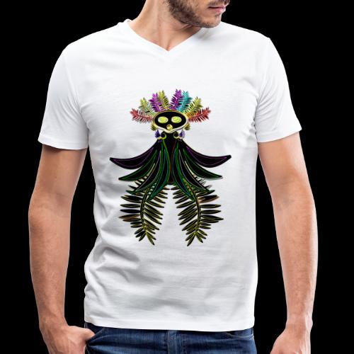 L'oiseau paradis néon - T-shirt bio col V Stanley & Stella Homme