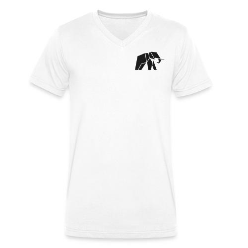 Schönes Elefanten Design für Elefanten Fans - Männer Bio-T-Shirt mit V-Ausschnitt von Stanley & Stella