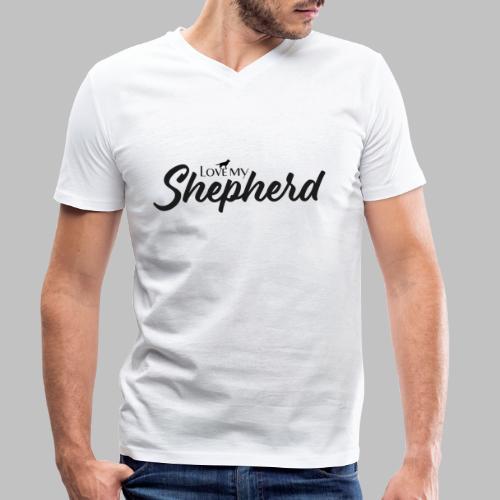 LOVE MY SHEPHERD - Black Edition - Dog Lover - Männer Bio-T-Shirt mit V-Ausschnitt von Stanley & Stella