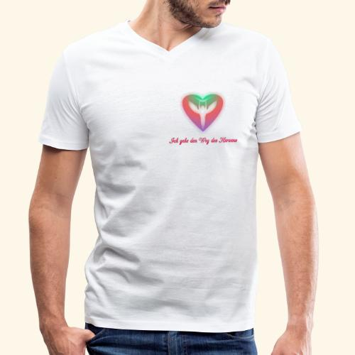 Ich gehe den Weg meines Herzens - Männer Bio-T-Shirt mit V-Ausschnitt von Stanley & Stella