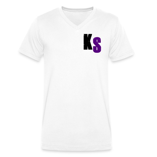 KS Official - Ekologisk T-shirt med V-ringning herr från Stanley & Stella