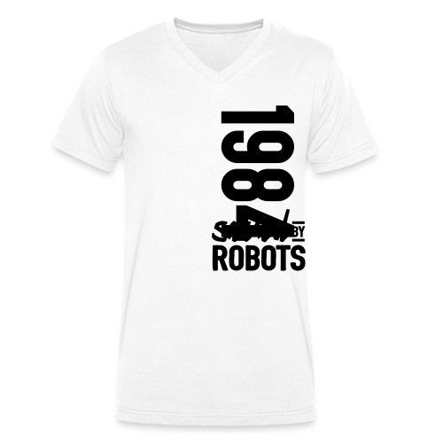 1984 / Saved By Robots Premium Tote Bag - Men's Organic V-Neck T-Shirt by Stanley & Stella