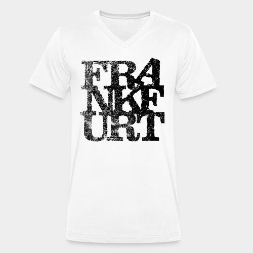 Frankfurt T-Shirt - Männer Bio-T-Shirt mit V-Ausschnitt von Stanley & Stella