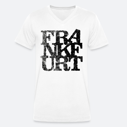 Frankfurt 9 Letters vintage - Männer Bio-T-Shirt mit V-Ausschnitt von Stanley & Stella