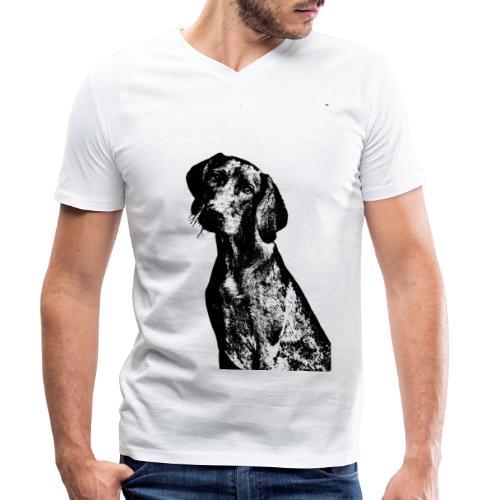 portrait of dog - T-shirt ecologica da uomo con scollo a V di Stanley & Stella