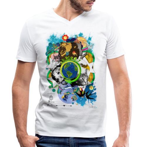 Terre Mère Nature (Fr) -by- T-shirt chic et choc - T-shirt bio col V Stanley & Stella Homme