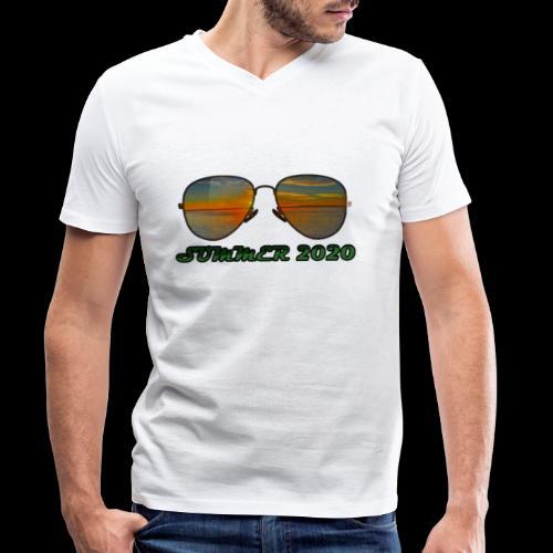 Summer 2020 Beach Vacation Sunglasses - Männer Bio-T-Shirt mit V-Ausschnitt von Stanley & Stella