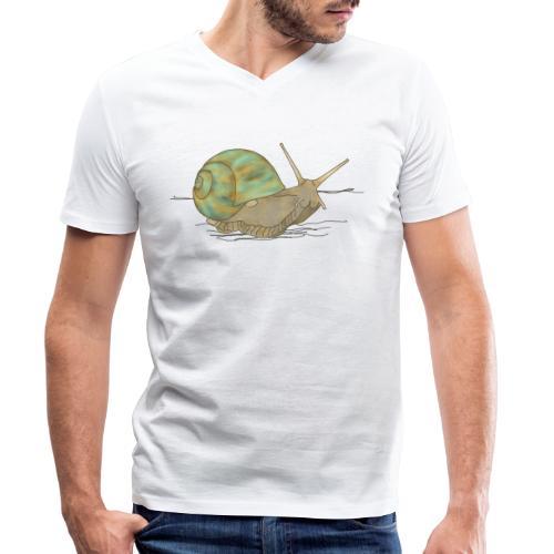 Schnecke, Weinbergschnecke - Männer Bio-T-Shirt mit V-Ausschnitt von Stanley & Stella