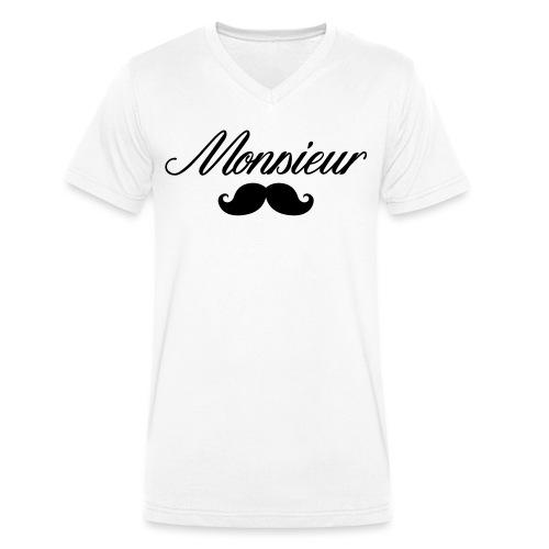 monsieur moustache logo - T-shirt bio col V Stanley & Stella Homme