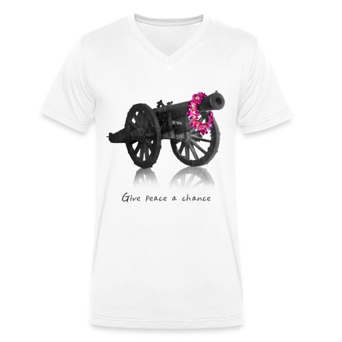 Give peace a chance - T-shirt bio col V Stanley & Stella Homme