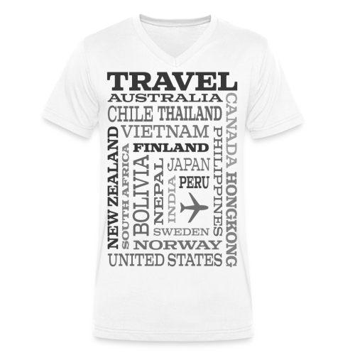 Travel Places Gray design - Stanley & Stellan naisten luomupikeepaita