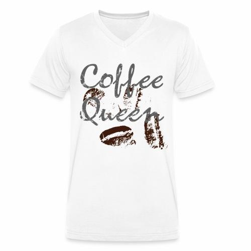 coffee queen bohnen grunge - Männer Bio-T-Shirt mit V-Ausschnitt von Stanley & Stella