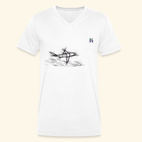 shark 03 21 - Men's Organic V-Neck T-Shirt by Stanley & Stella