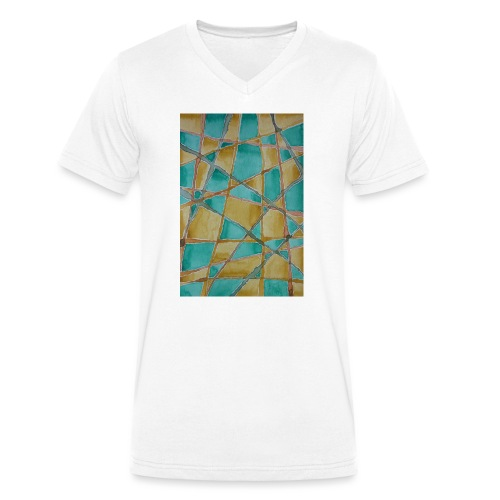 Watercolour Art painting - Men's Organic V-Neck T-Shirt by Stanley & Stella