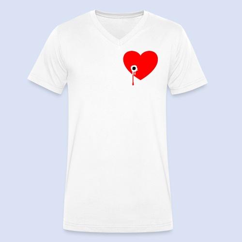 Cœur troué - T-shirt bio col V Stanley & Stella Homme
