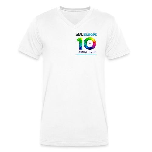 10th anniversary of XBRL Europe - Men's Organic V-Neck T-Shirt by Stanley & Stella