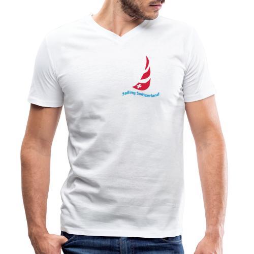 logo sailing switzerland - Männer Bio-T-Shirt mit V-Ausschnitt von Stanley & Stella