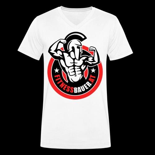 FitnessBauer von Max - Männer Bio-T-Shirt mit V-Ausschnitt von Stanley & Stella