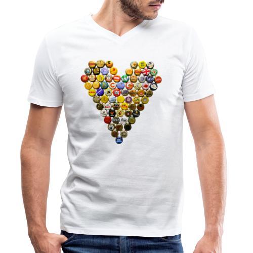 LOVERZ GONNA LOVE bière - T-shirt bio col V Stanley & Stella Homme