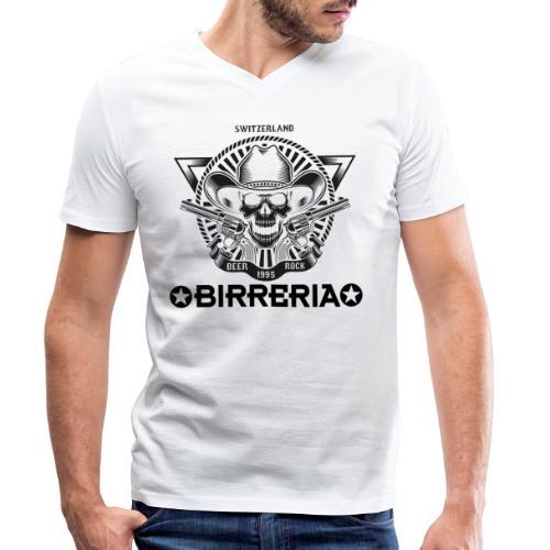 Sheriff Skull with Revolver - Männer Bio-T-Shirt mit V-Ausschnitt von Stanley & Stella
