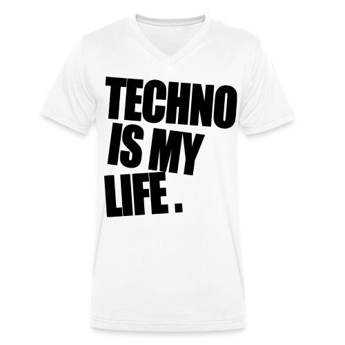 techno is my life 5 - Männer Bio-T-Shirt mit V-Ausschnitt von Stanley & Stella