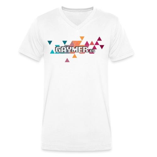 Logo Gaymer.es - Camiseta ecológica hombre con cuello de pico de Stanley & Stella