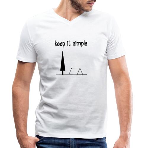 keep it simple - Männer Bio-T-Shirt mit V-Ausschnitt von Stanley & Stella