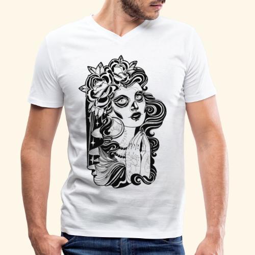 Catrina - Camiseta ecológica hombre con cuello de pico de Stanley & Stella
