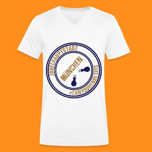 Jodelhauptstadt München3 - Männer Bio-T-Shirt mit V-Ausschnitt von Stanley & Stella