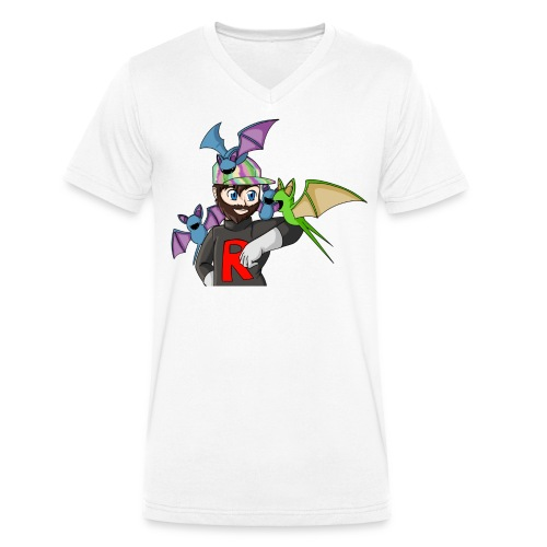 AJ and Zubat - Men's Organic V-Neck T-Shirt by Stanley & Stella