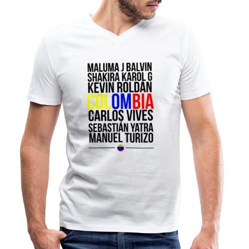 Reggaeton Shirt Kolumbien - Männer Bio-T-Shirt mit V-Ausschnitt von Stanley & Stella