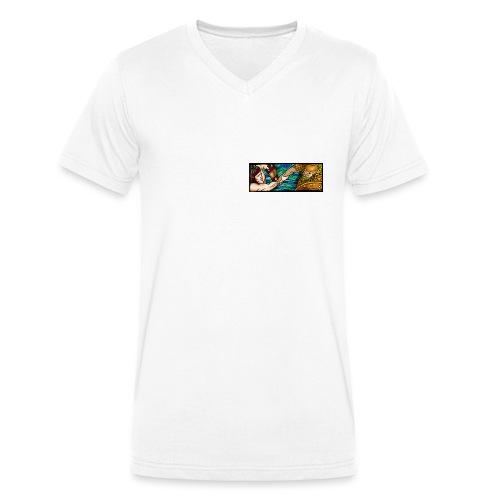 scan0048 copy jpg - Økologisk Stanley & Stella T-shirt med V-udskæring til herrer