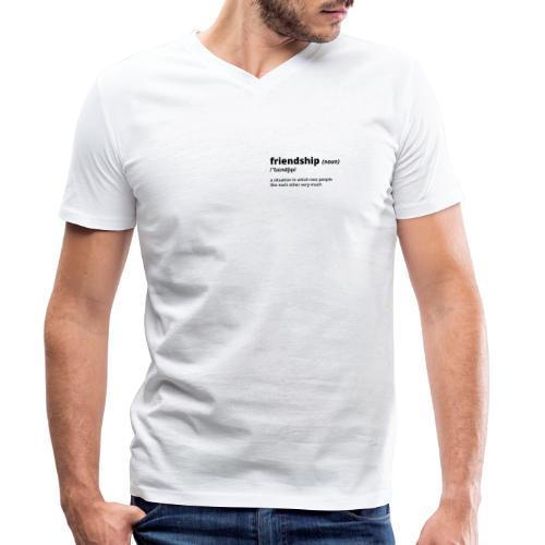 Friendship - Shirt (100% bio und fairtrade) - Männer Bio-T-Shirt mit V-Ausschnitt von Stanley & Stella