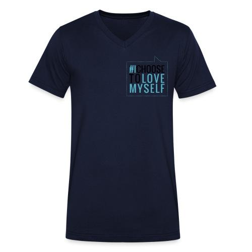 #ictlm 03 schwarz - Männer Bio-T-Shirt mit V-Ausschnitt von Stanley & Stella