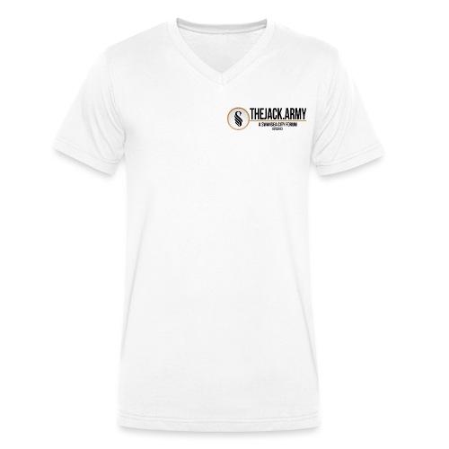 TJA Black - Men's Organic V-Neck T-Shirt by Stanley & Stella
