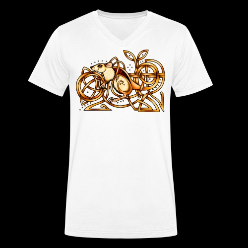 Celtic Rat - Men's Organic V-Neck T-Shirt by Stanley & Stella