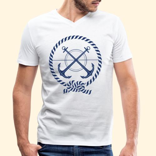 Ancoras - Men's Organic V-Neck T-Shirt by Stanley & Stella