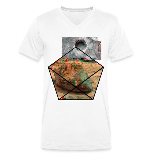 Mars Oberflä - Männer Bio-T-Shirt mit V-Ausschnitt von Stanley & Stella