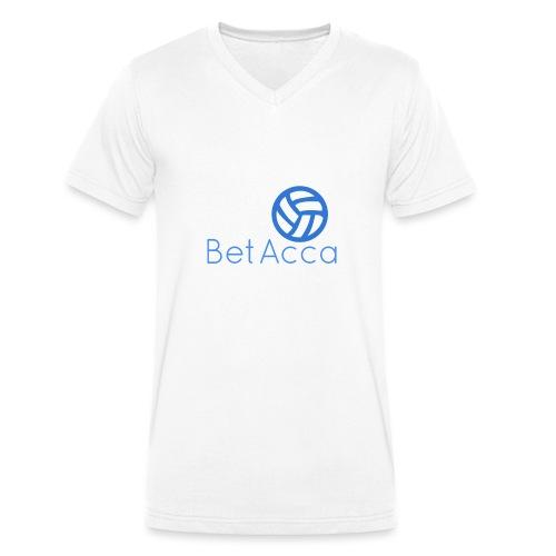 BetAcca Logo - Men's Organic V-Neck T-Shirt by Stanley & Stella