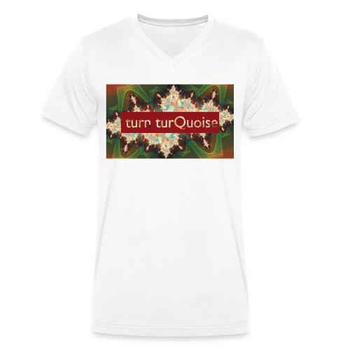 turn turQuoise Logo 2 - Männer Bio-T-Shirt mit V-Ausschnitt von Stanley & Stella