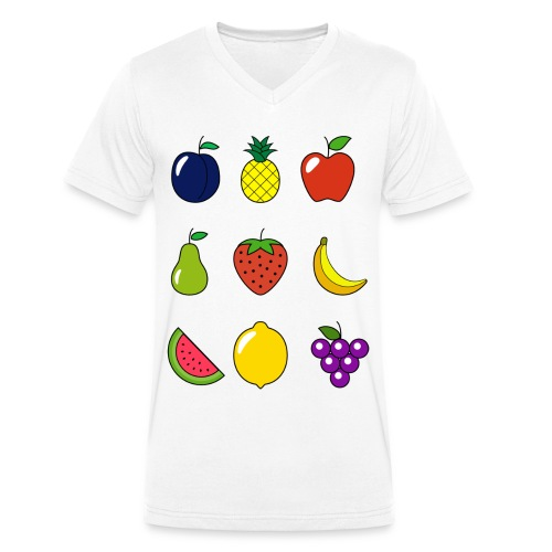 Fruit Collection - Men's Organic V-Neck T-Shirt by Stanley & Stella