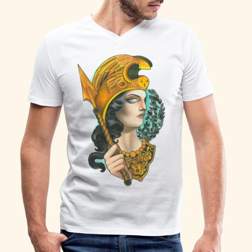 Atenea - Camiseta ecológica hombre con cuello de pico de Stanley & Stella