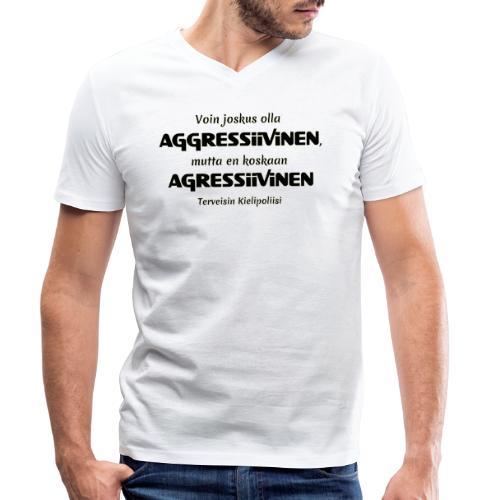 Aggressivinen kielipoliisi - Stanley & Stellan miesten luomupikeepaita