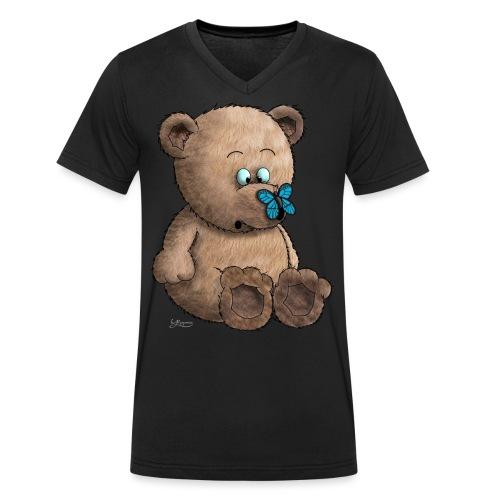 Teddybär - Männer Bio-T-Shirt mit V-Ausschnitt von Stanley & Stella