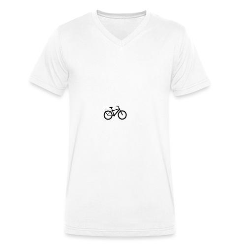 BCL Shirt Back White - Men's Organic V-Neck T-Shirt by Stanley & Stella