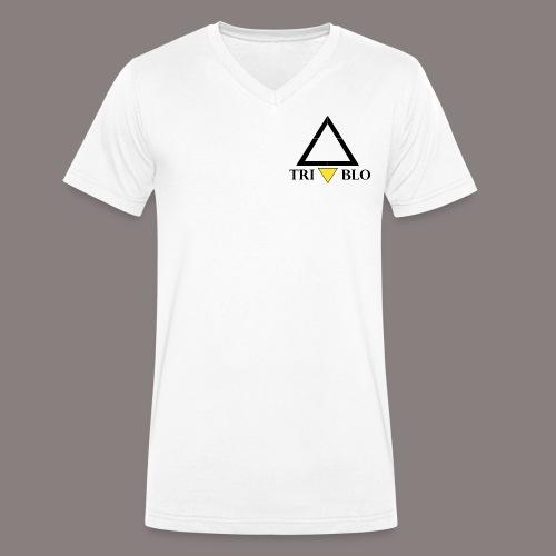 TRIABLO WHITE - T-shirt ecologica da uomo con scollo a V di Stanley & Stella
