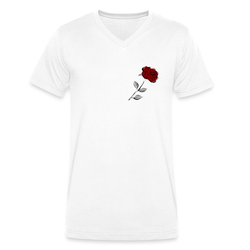 Rose FeKo Oberteile für Frauen und Männer. - Männer Bio-T-Shirt mit V-Ausschnitt von Stanley & Stella